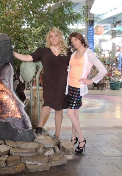 Roxy (on left) and Natasha Klein