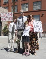 The Lowe family in attendance to show support for the Utah Pride Festival