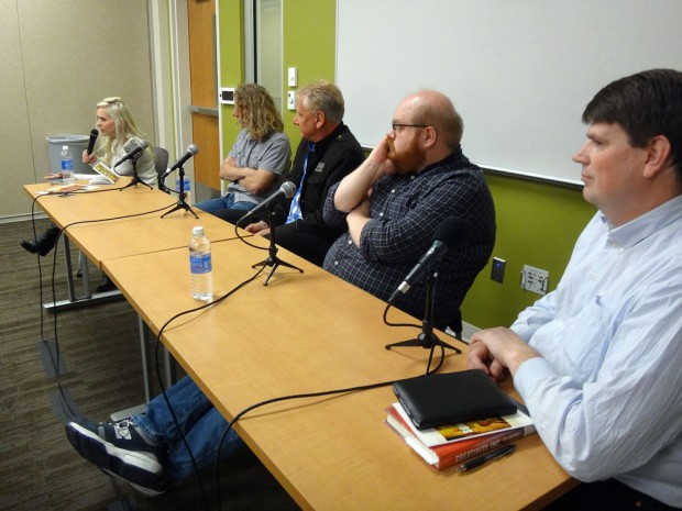 Left to right: Margi Chadburn, Gaynor Brunson, Graham Russell, Steve Sue and Thomas Baggaley