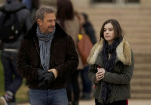 Costner and Steinfeld in 3 Days to Kill
