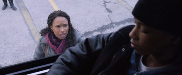 The film's lazy visuals and lackluster blocking hold back something that had the potential to be an enjoyable film. Pictured: Jennifer Hudson (left) and Jacob Latimore (Right)