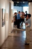 Man viewing V. Douglas Snow gallery