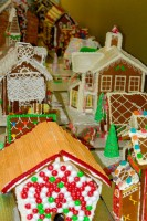Gingerbread village on display