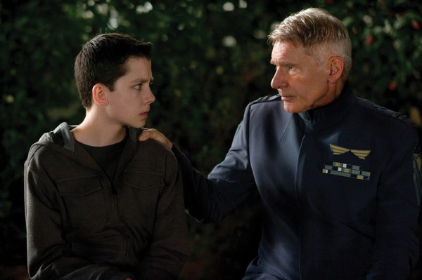 """Asa Butterfield, left, and Harrison Ford in """"Ender's Game"""""""