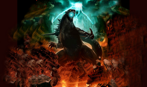 This painting by Gonzalo Ordóñez Arias was used to promote the upcoming American remake of Godzilla at the 2010 San Diego Comic Con.