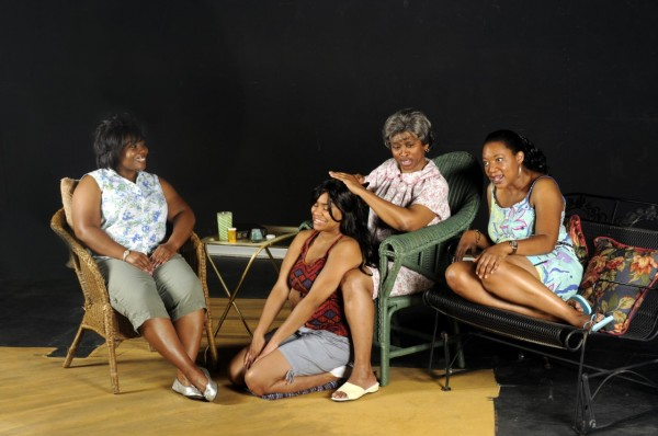 """Actresses rehearsing a scene from """"Heat"""""""