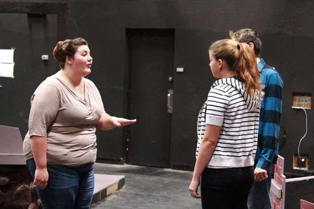 """""""A Lie of the Mind"""" rehearsal"""