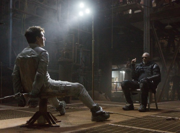 """A still from """"Oblivion"""" featuring Tom Cruise and Morgan Freeman."""