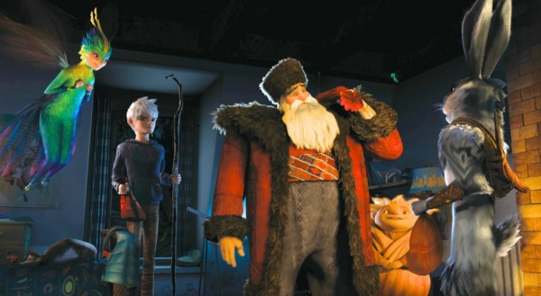 'Rise of the Guardians' movie still featuring the main cast of characters.