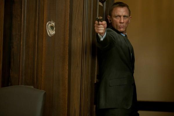 A movie still from Skyfall featuring Daniel Craig