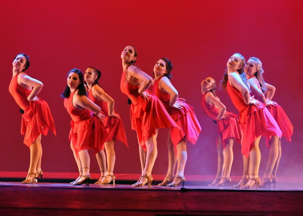 Dance Company on stage