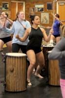 Drum dance practice