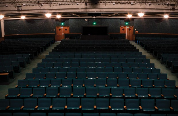 Empty seats in The Grand Theatre