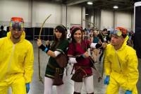 """Breaking Bad"" and Zelda cosplayers"