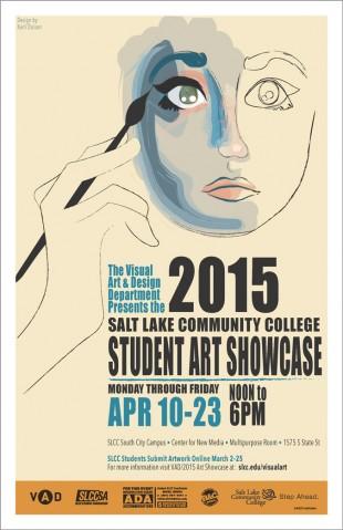 2015 SLCC student art showcase poster