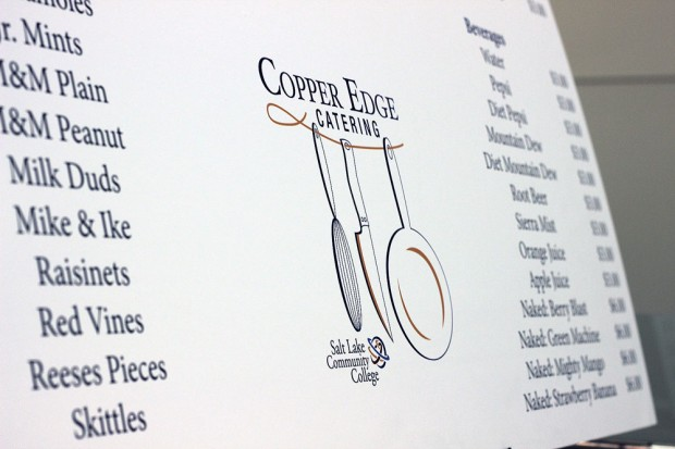Copper Edge Catering menu board