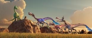 "Spot and Arlo meet velociraptors in ""The Good Dinosaur"""