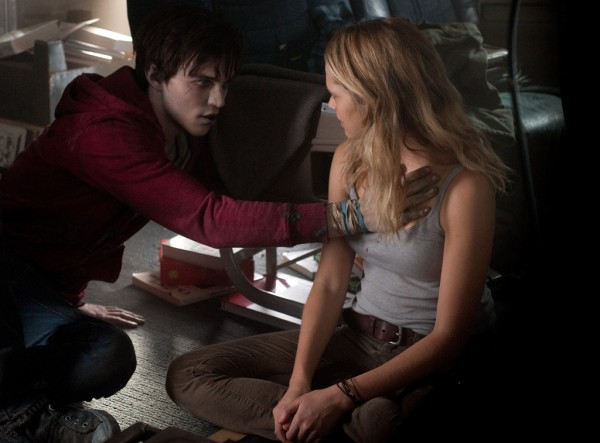 Nicholas Hoult, left, and Teresa Palmer in a scene from 'Warm Bodies.'