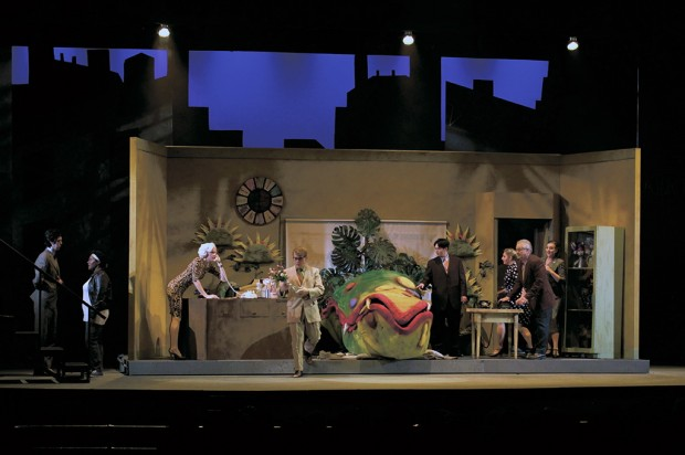 "Live performance of ""Little Shop of Horrors"" at The Grand Theatre"