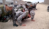 Cadets doing push-ups