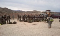 ROTC cadets falling into final formation