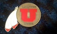 Front of a Ute Warrior Battalion Coin