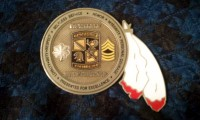 Back of a Ute Warrior Battalion Coin