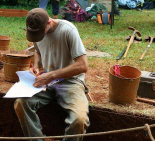 Collecting data at a dig site