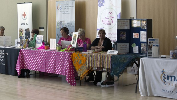 Community Engagement Fair booths
