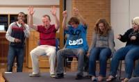 Chris Jones hypnotizes SLCC students