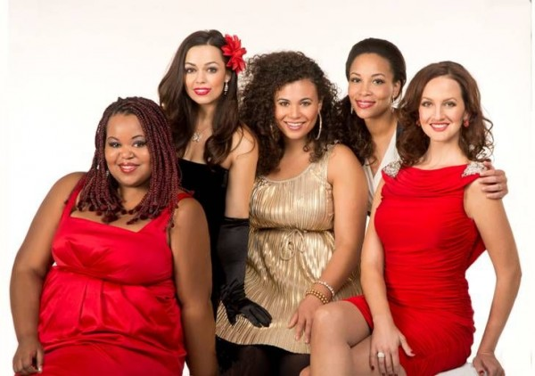 Vocalists MacKenzie Seiler, Erica Walters, Alicia Washington, Detorea Oliver and Erica Hansen perform in 'A Diva Holiday.' Vocalists MacKenzie Seiler, Erica Walters, Alicia Washington, Detorea Oliver and Erica Hansen perform in 'A Diva Holiday.'