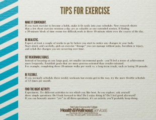 Tips for exercise