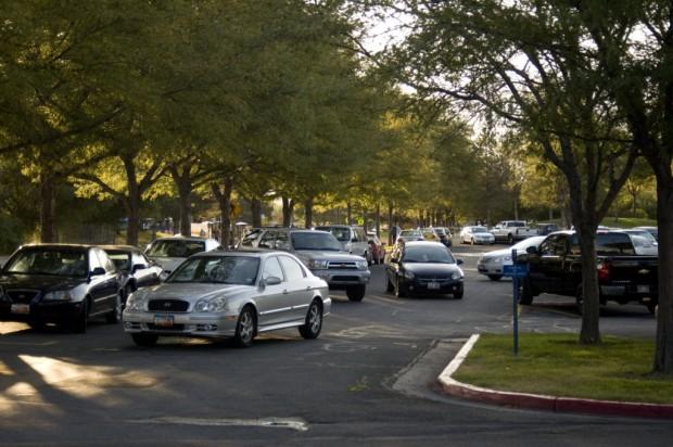 Full parking lots