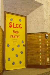 The door to the Food Pantry at SLCC's South City Campus' second floor