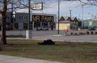 Homeless man sleeping