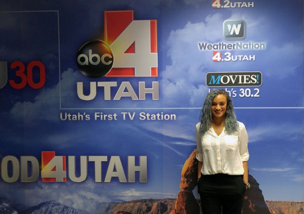 SLCC communication student Stacey Bradshaw received an internship at KTVX Channel 4 in Salt Lake.