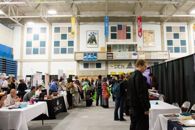 SLCC Students attending the Job Fair.
