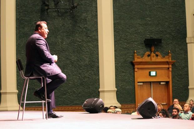John Quiñones on stage