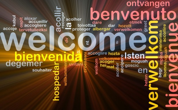 """Welcome"" in many languages"