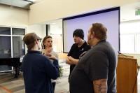 Film students talking