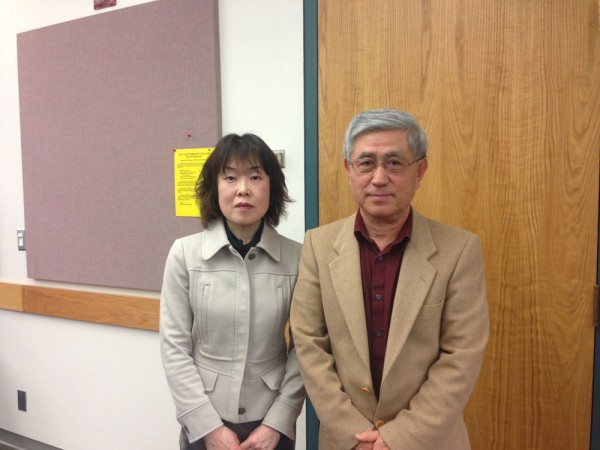Professors Masami Matsuwaki (left) and Susumu Kasai (right) worked together explain risk management practices in Japan.