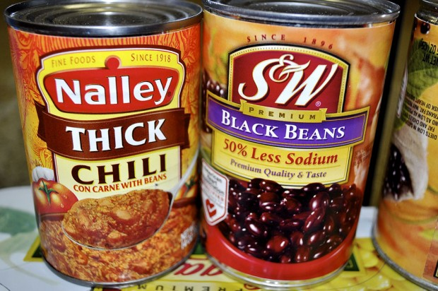 Donated chili and black beans