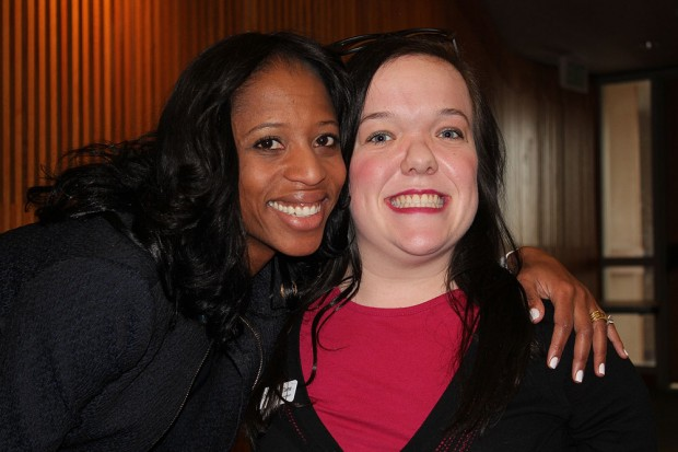 Mia Love, left, and Amber Caine