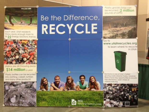 Recycling Coalition of Utah sign