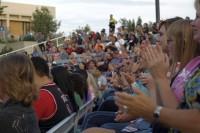 Audience appauds the Rhythmic Circus