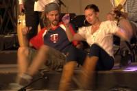Kaleena and Nick move their feet