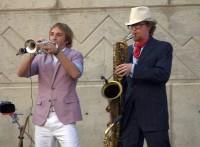 Peter Vircks, right, and Aaron Wiener from Rhythmic Circus
