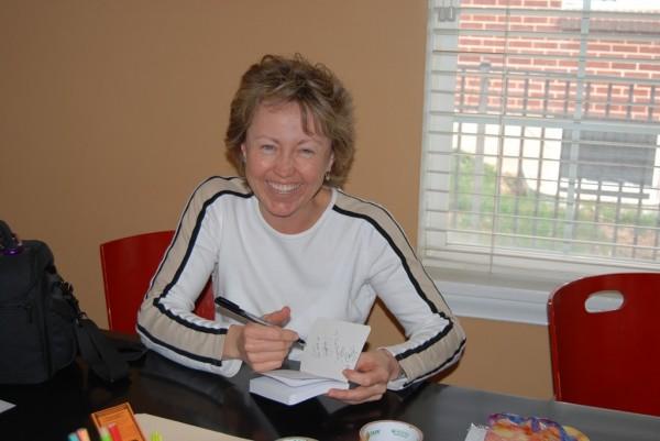 Samantha Simon at a book signing earlier this summer.