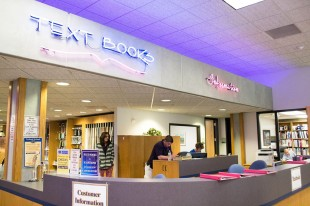 Inside the Taylorsville Redwood Campus bookstore