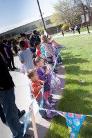 Kids getting ready to hunt easter eggs